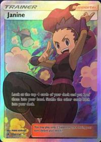 pokemon sm unbroken bonds janine 210 214 full art
