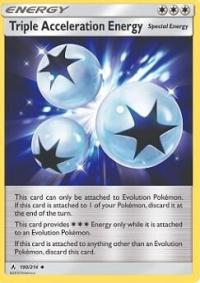 pokemon sm unbroken bonds triple acceleration energy 190 214