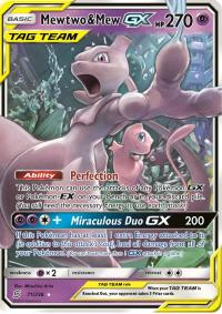 pokemon sm unified minds mewtwo mew gx 71 236