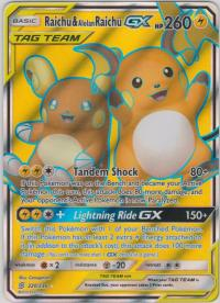 pokemon sm unified minds raichu alolan raichu gx 220 236 full art