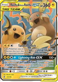 pokemon sm unified minds raichu alolan raichu gx 54 236