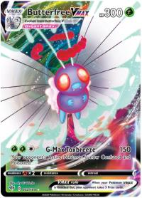 pokemon ss darkness ablaze butterfree vmax 002 189