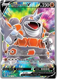 pokemon ss darkness ablaze rhyperior v 181 189 full art