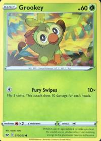 pokemon ss sword shield base set grookey 010 202