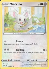 pokemon ss sword shield base set minccino 145 202