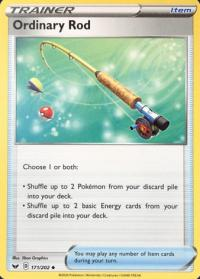 pokemon ss sword shield base set ordinary rod 171 202