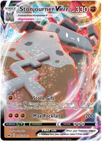 pokemon ss sword shield base set stonjourner vmax 116 202