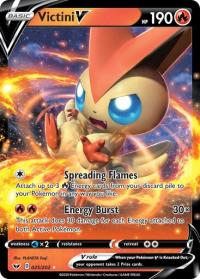 pokemon ss sword shield base set victini v 025 202
