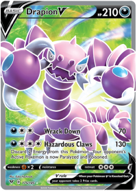 pokemon ss vivid voltage drapion v 175 185 full art