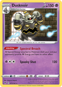 pokemon ss vivid voltage dusknoir 071 185