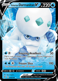 pokemon ss vivid voltage galarian darmanitan v 036 185
