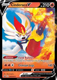 pokemon sword shield promos cinderace v swsh015