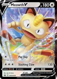 pokemon sword shield promos meowth v swsh004