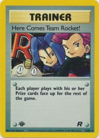 pokemon team rocket 1st edition here comes team rocket 15 82 1st edition