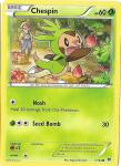 pokemon xy break through chespin 7 162