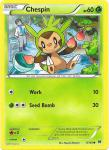 pokemon xy break through chespin 8 162