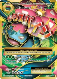 pokemon xy evolutions m venusaur ex full art 100 108