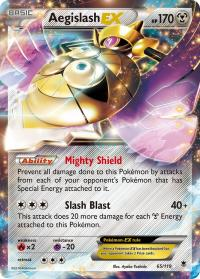 pokemon xy phantom forces aegislash ex 65 119