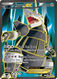 pokemon xy primal clash aggron ex full art 153 160
