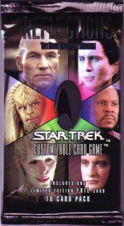 star trek 1e star trek 1e sealed product star trek 1e reflections pack