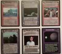 star wars ccg anthologies sealed deck premium third anthology 6 card set sealed
