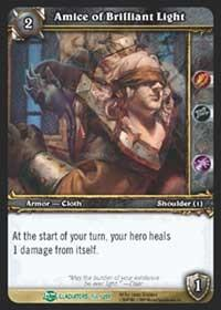 warcraft tcg blood of gladiators amice of brilliant light