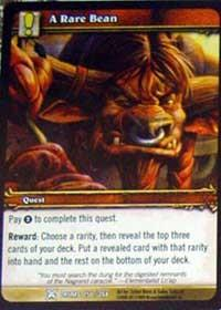 warcraft tcg drums of war a rare bean