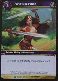 warcraft tcg drums of war absolute poise
