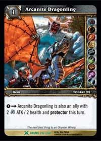 warcraft tcg drums of war arcanite dragonling