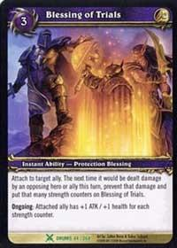 warcraft tcg drums of war blessing of trials