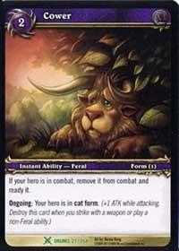 warcraft tcg drums of war cower