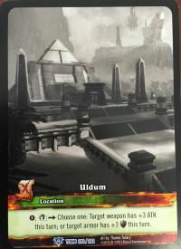 warcraft tcg extended art uldum ea sketch card