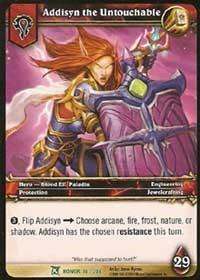 warcraft tcg fields of honor addisyn the untouchable