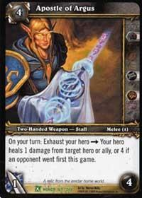 warcraft tcg fields of honor apostle of argus