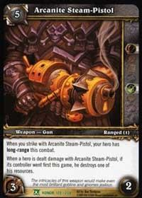warcraft tcg fields of honor arcanite steam pistol