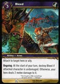 warcraft tcg fields of honor bleed