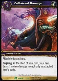 warcraft tcg fields of honor collateral damage