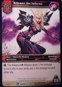 warcraft tcg fields of honor kileana the inferno