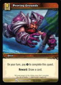 warcraft tcg fields of honor proving grounds