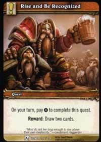warcraft tcg fields of honor rise and be recognized