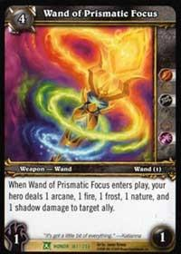 warcraft tcg fields of honor wand of prismatic focus