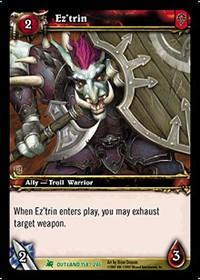 warcraft tcg fires of outland ez trin