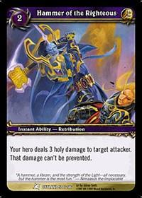 warcraft tcg fires of outland hammer of the righteous