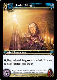warcraft tcg fires of outland josiah king
