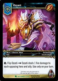 warcraft tcg fires of outland ozzati
