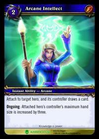 warcraft tcg heroes of azeroth arcane intellect