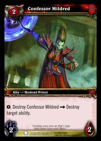 warcraft tcg heroes of azeroth confessor mildred