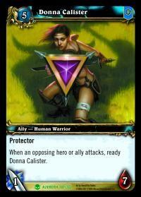 warcraft tcg heroes of azeroth donna calister