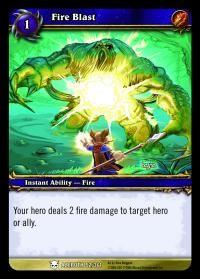 warcraft tcg heroes of azeroth fire blast
