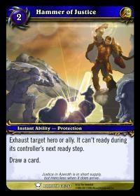 warcraft tcg heroes of azeroth hammer of justice